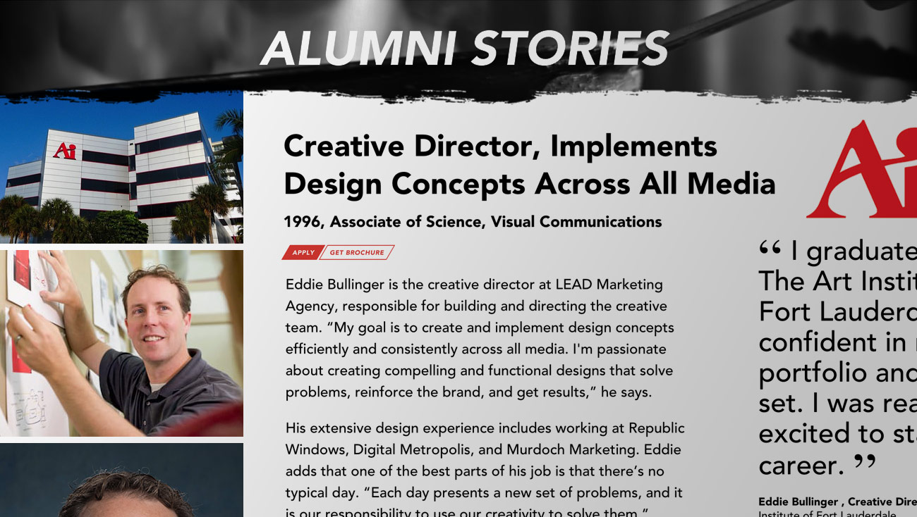 Alumni Stories Eddie Bullinger Creative Director