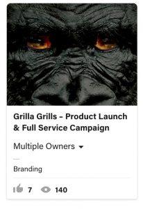 From Eddie Bullinger Creative Portfolio –Grilla Grills