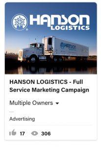 From Eddie Bullinger Creative Portfolio – Hanson Logistics