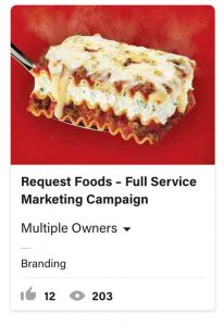 From Eddie Bullinger Creative Portfolio – Request Foods