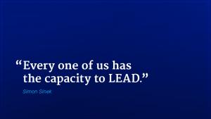 Simon Sinek marketing quote capacity to lead