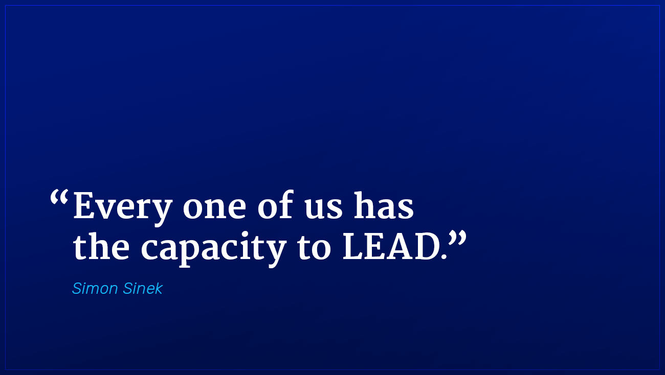 Simon Sinek marketing quote capacity to lead