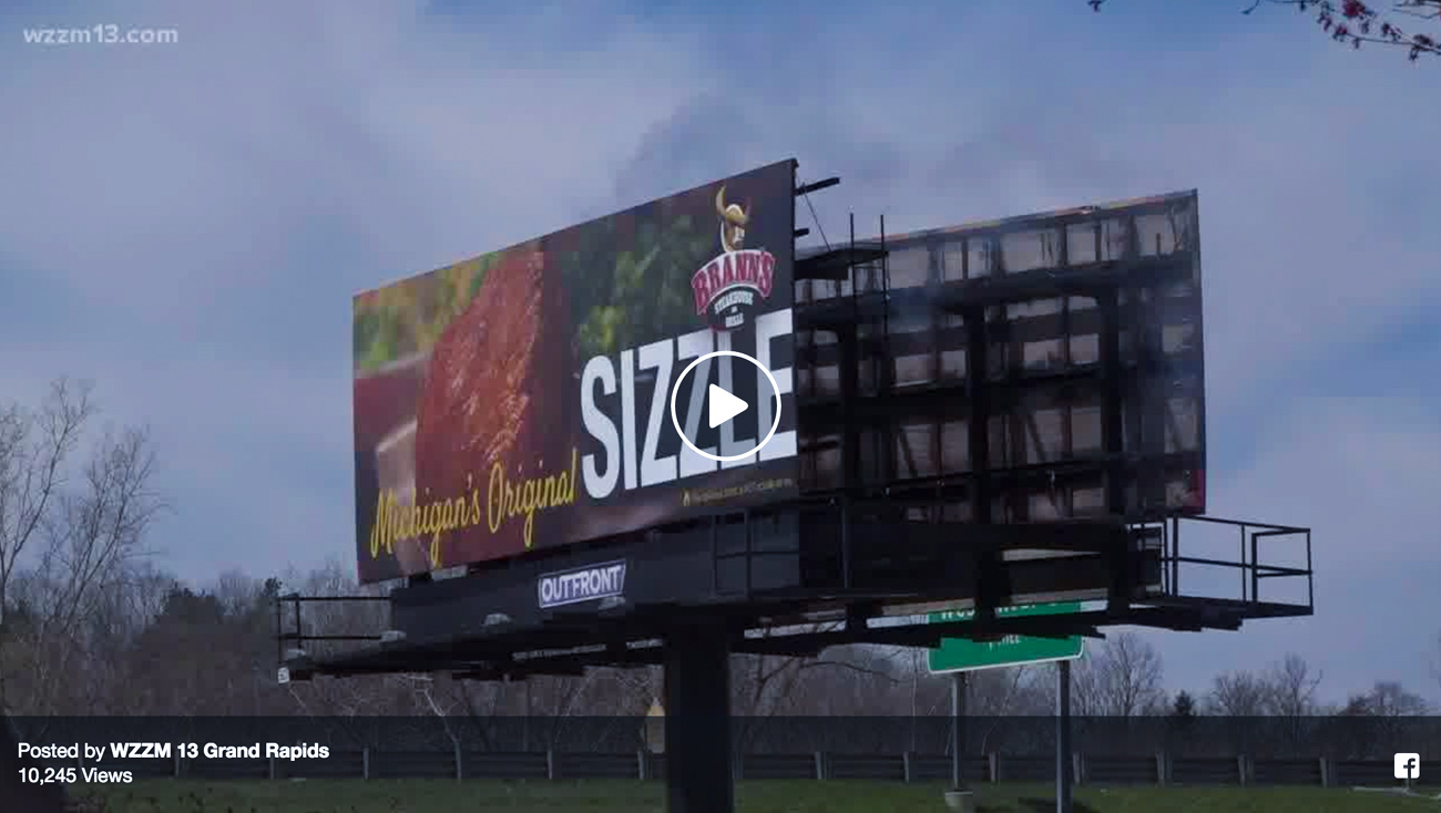 Outdoor attention getting billboard grand rapids