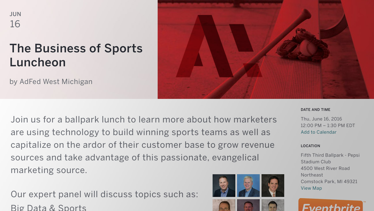 AdFed Eventbright Sports Marketing Panel Luncheon