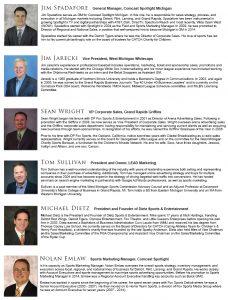 Featured Sports Marketing panelists - Grand Rapids, Michigan
