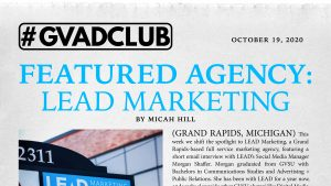 GV Ad Club news article about Lead Marketing