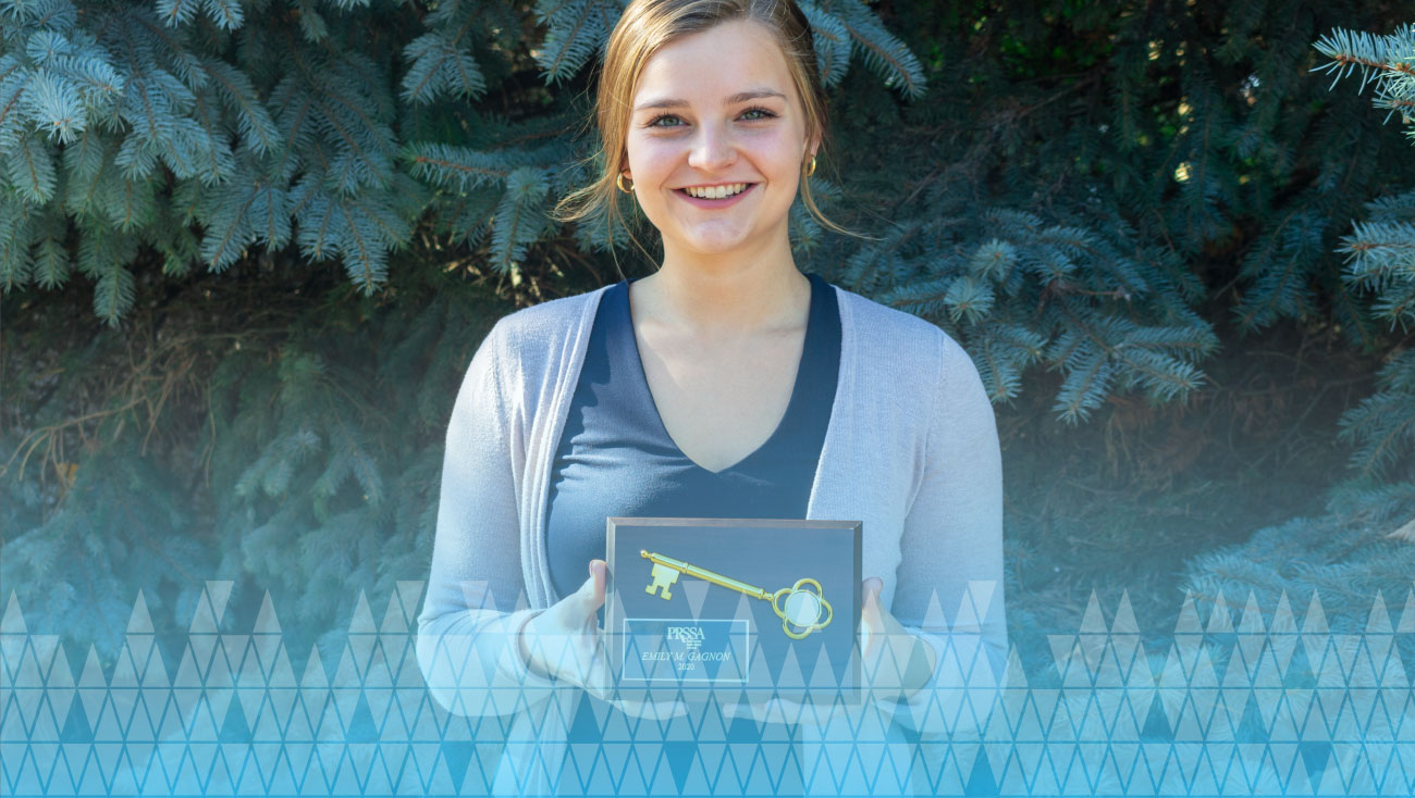 Emily Gagnon and Gold Key Award